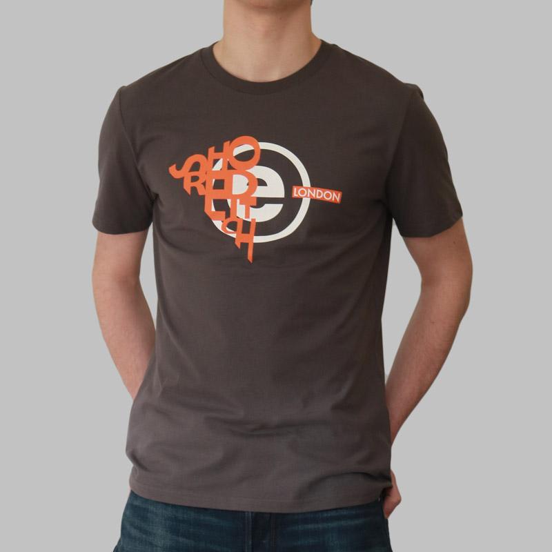 United Kingdom London UK-Neuf Coton Gris Gris T-Shirt